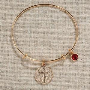 Jewelry - Gold Cross Bangle Bracelet